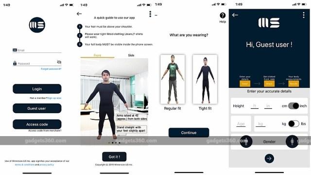 mirrorsize app screenshots gadgets 360 Mirrorsize