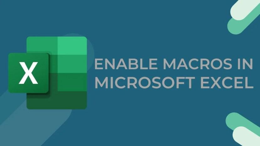 How to Enable Macros in Microsoft Excel 1