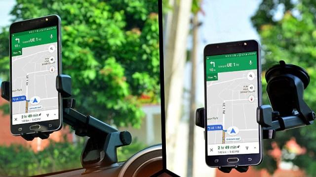 Mysterious master dashboard windshield installs Amazon smartphone holder