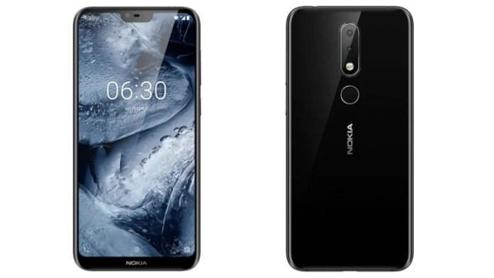 nokia x6 front back 1526456078434 - نوكيا تزيح الستار عن جوالها نوكيا الجديد X6 بنتوء وكاميرات مزدوجة