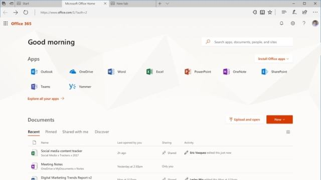 office.com interface blog 1506336130965 Microsoft announces to redesign for the Office 365 App Launcher with better user interface