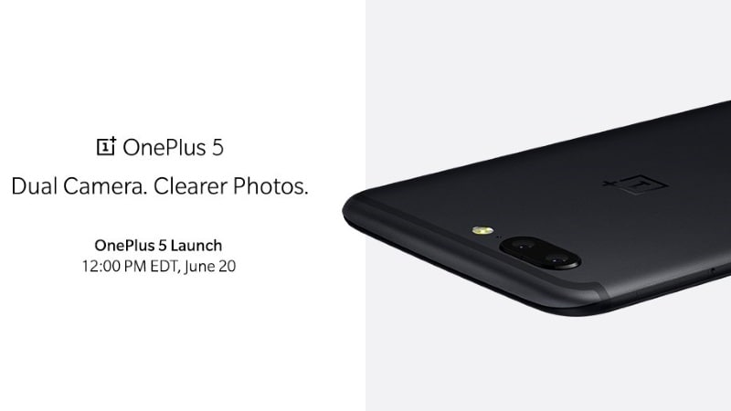OnePlus 5 Official Image Shows Design Similar to iPhone 7 Plus'