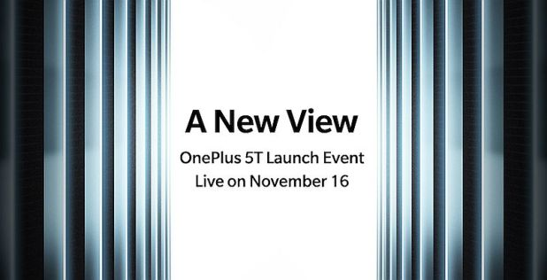 OnePlus 5T Launch Date Is November 16, India Release Set for November 21