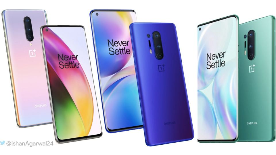 oneplus 8 top 5 colours oneplus