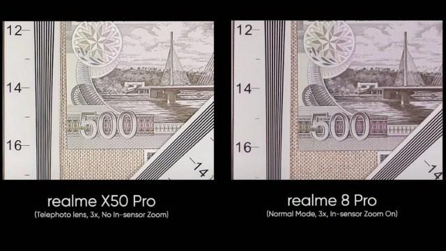 Realme 8 प्रो में सेंसर ज़ूम इमेज Realme 8 Pro Realme
