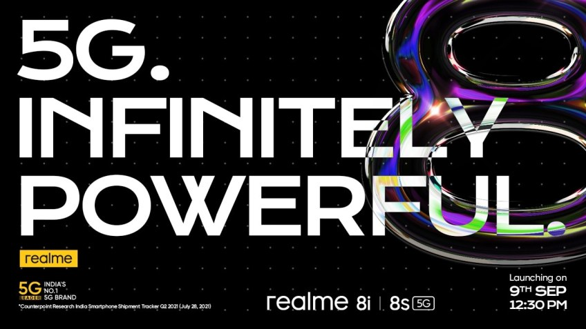 Realme 8i, Realme 8s 5G Set to Launch in India on September 9