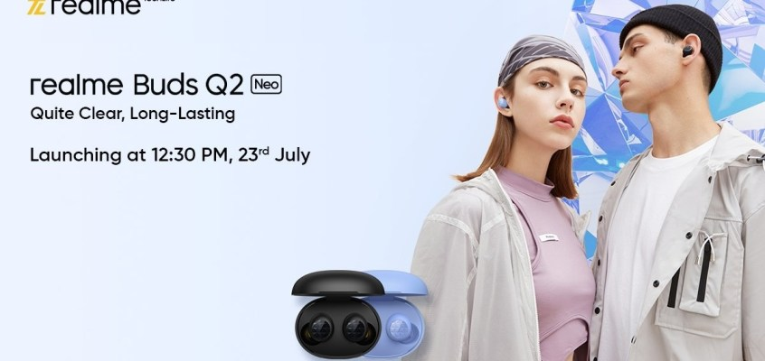 Realme Buds Q2 Neo TWS Earbuds Launching in India on July 23