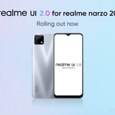 Realme Narzo 20 Gets Android 11-Based Realme UI 2.0 Update