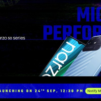 Realme Narzo 50 Series, Realme Band 2 to Launch in India on September 24