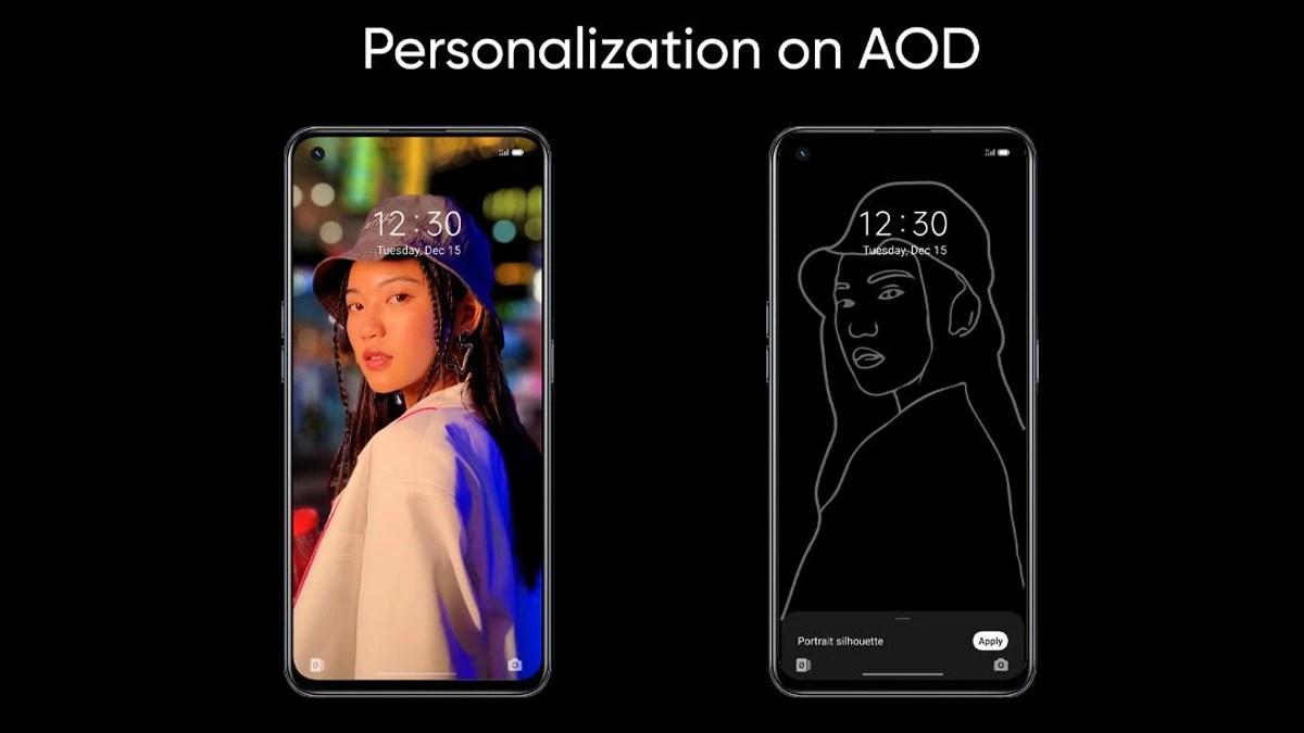realme ui 3 0 personalised aod interface image Realme UI 3