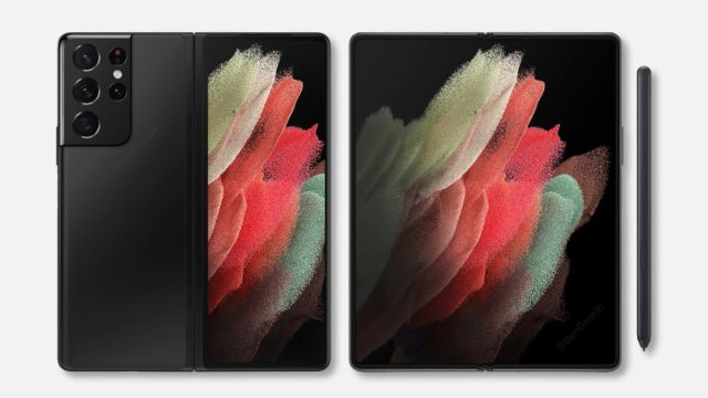 Samsung Galaxy Z Fold 3 Ultra Concept Render Tips Galaxy S21 Ultra-Like Rear Cameras, S Pen Support