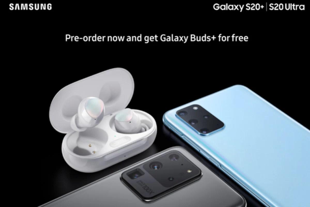 samsung galaxy s20 plus ultra buds plus bundle pre order offer leak twitter evan blass Samsung Galaxy S20  Samsung Galaxy S20 Ultra  Samsung Galaxy Buds Plus