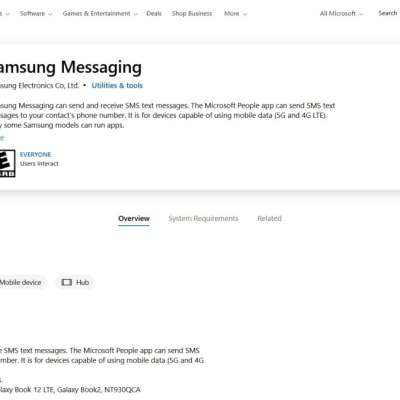 Samsung Messaging App for Windows Spotted, Lets You Send Messages via PC