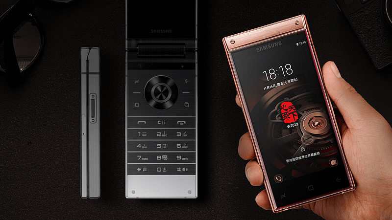 Samsung W2019 Android Flip Phone With Dual Super Amoled