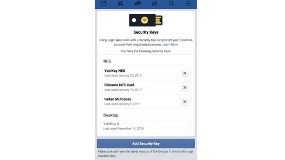 Facebook Launches NFC-Based Two Factor Authentication Process for Added Security