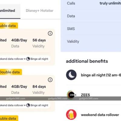 Vi Rs. 449 Prepaid Plan Brings Double Data, 1-Year Zee5 Premium Subscription