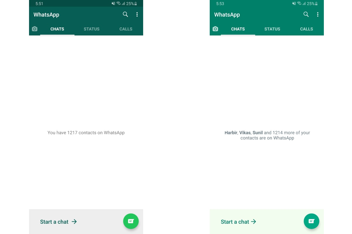 whatsapp android colour app update image gadgets 360 WhatsApp
