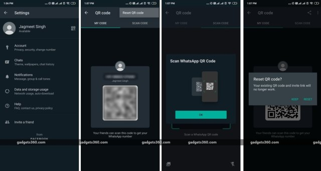 whatsapp qr code support android beta gadgets 360 WhatsApp