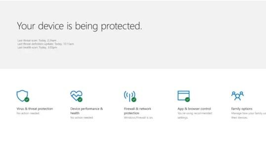 Windows 10 Creators Update to Bring New Windows Defender Security Center
