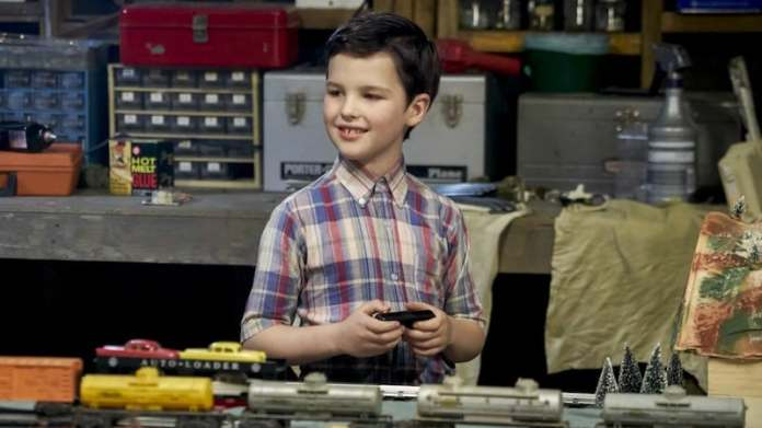 young sheldon train Big Bang theory