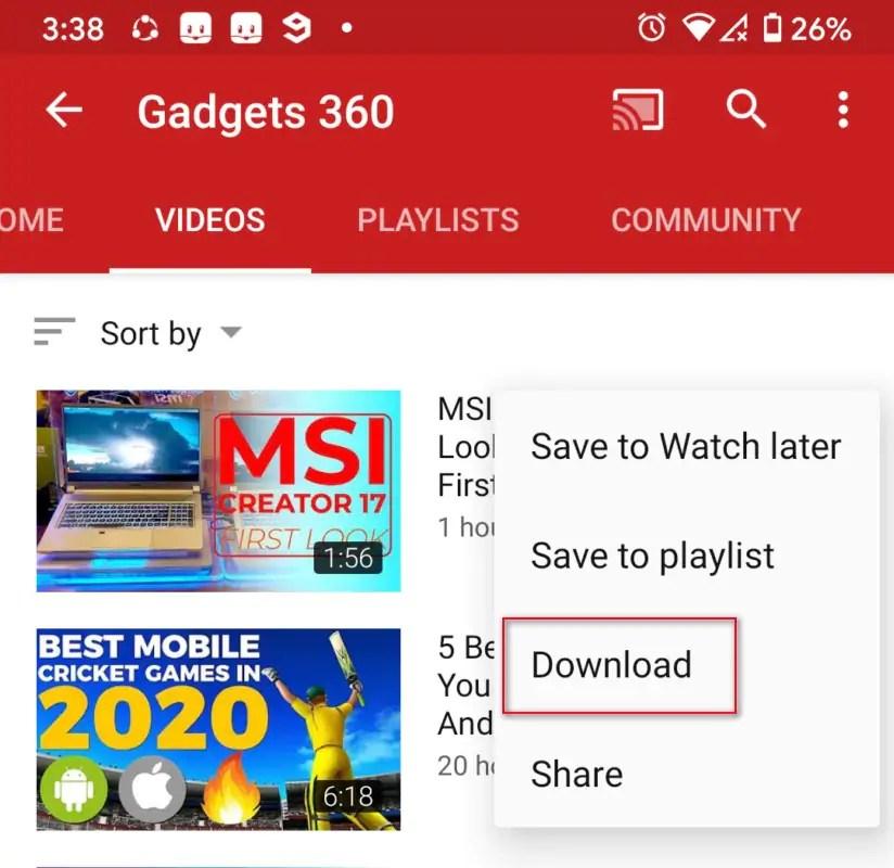 youtube app3 YouTube