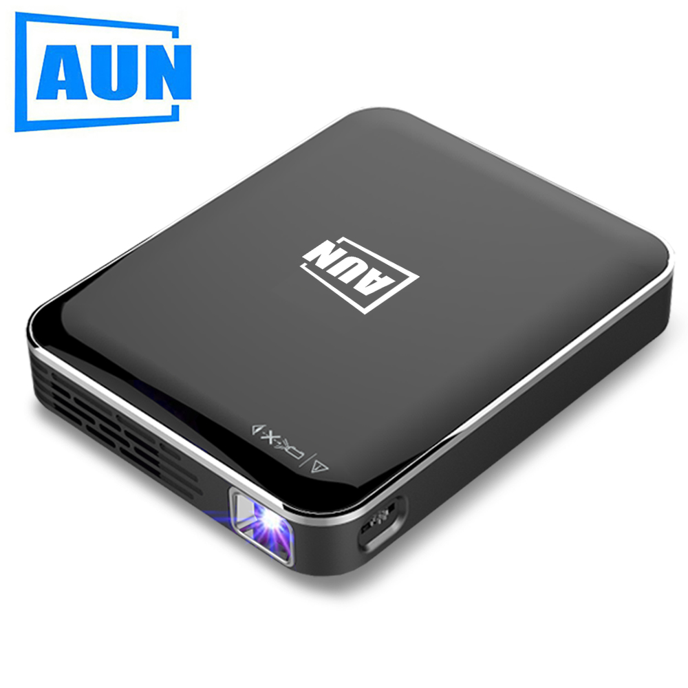 Gearbest AUN MINI Projector X3 Built in Multimedia System Support Mobile Phone Screen Mirroring DLP Projector