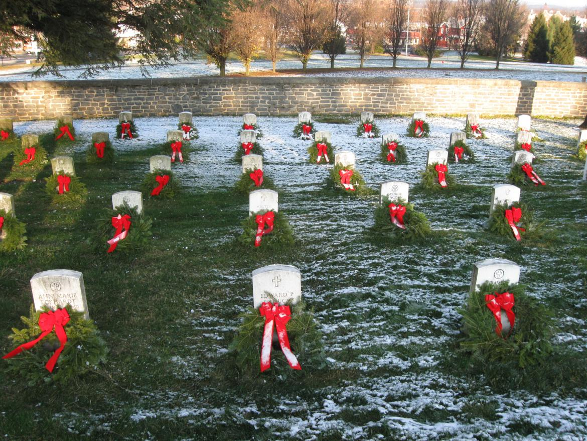 Gettysburg Soldiers National Cemetery Christmas Wreaths