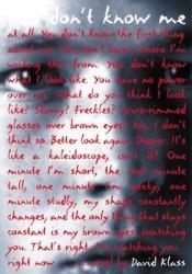 You Don't Know Me Book by David Klass