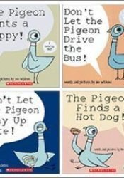 Pigeon Pack (4 Book Set) (The Pigeon Finds a Hot Dog!; Don't Let Pigeon the Stay Up Late!; The Pigeon Wants a Puppy!; Don't Let the Pigeon Drive the Bus!) Book by Mo Willems