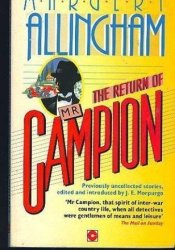 The Return of Mister Campion Book by Margery Allingham