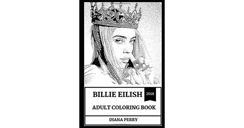 billie eilish adult coloring book electropop and