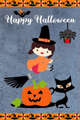 Happy Halloween Cute Little Witch Pumpkin Black Cat Halloween Notebook Gift Ideas For Boys And Girls Novelty Gift Journal To Write In Small Diary By Spooky Thingy Press