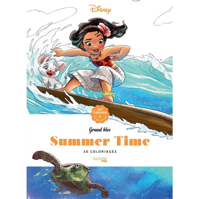 Grands Blocs coloriages Disney Summer time by Jean-Luc Guérin