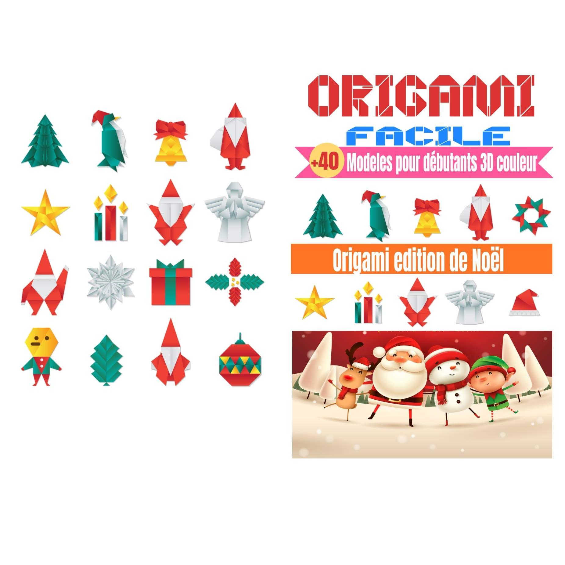 Origami Facile 40 Modeles Pour Debutants 3d Couleur Edition Noel Origami Facile Enfant Origami Animaux 3d Ideal Pour Cadeau By Mes Petits Origami