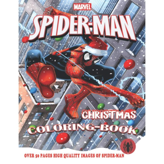Spider-Man Christmas Coloring Book: New version 29 for kids ages