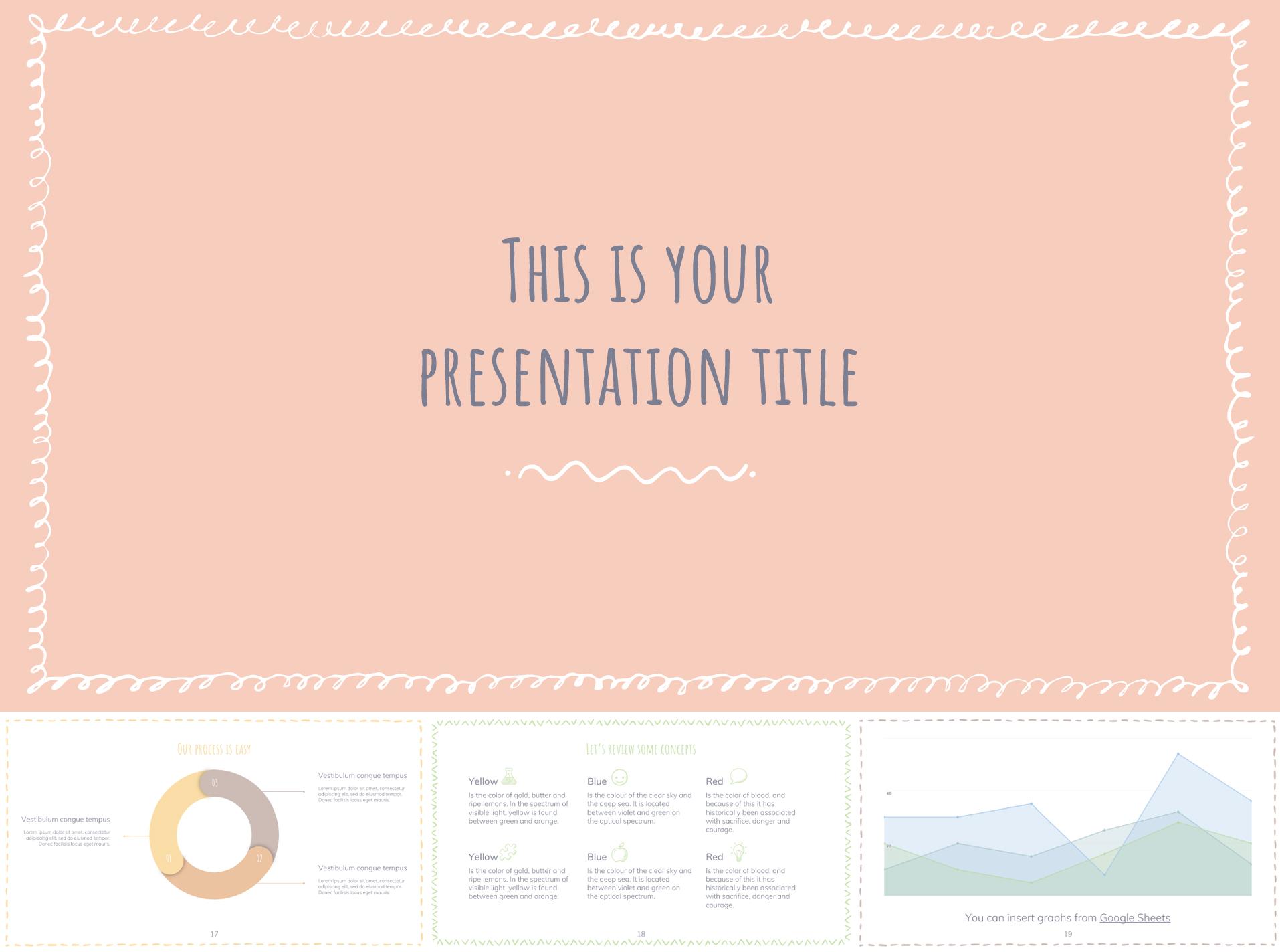Google Slides Template in Pastel Color Scheme - The Internet Tips