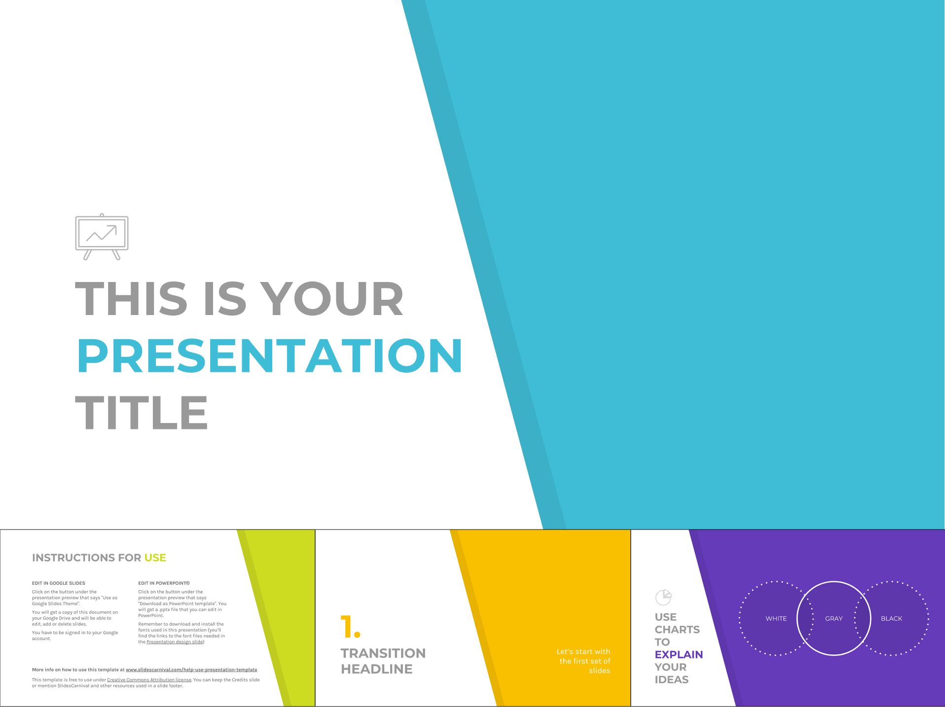 Minimalist Multi-Color Free Google Slides Templates Design - The Internet Tips