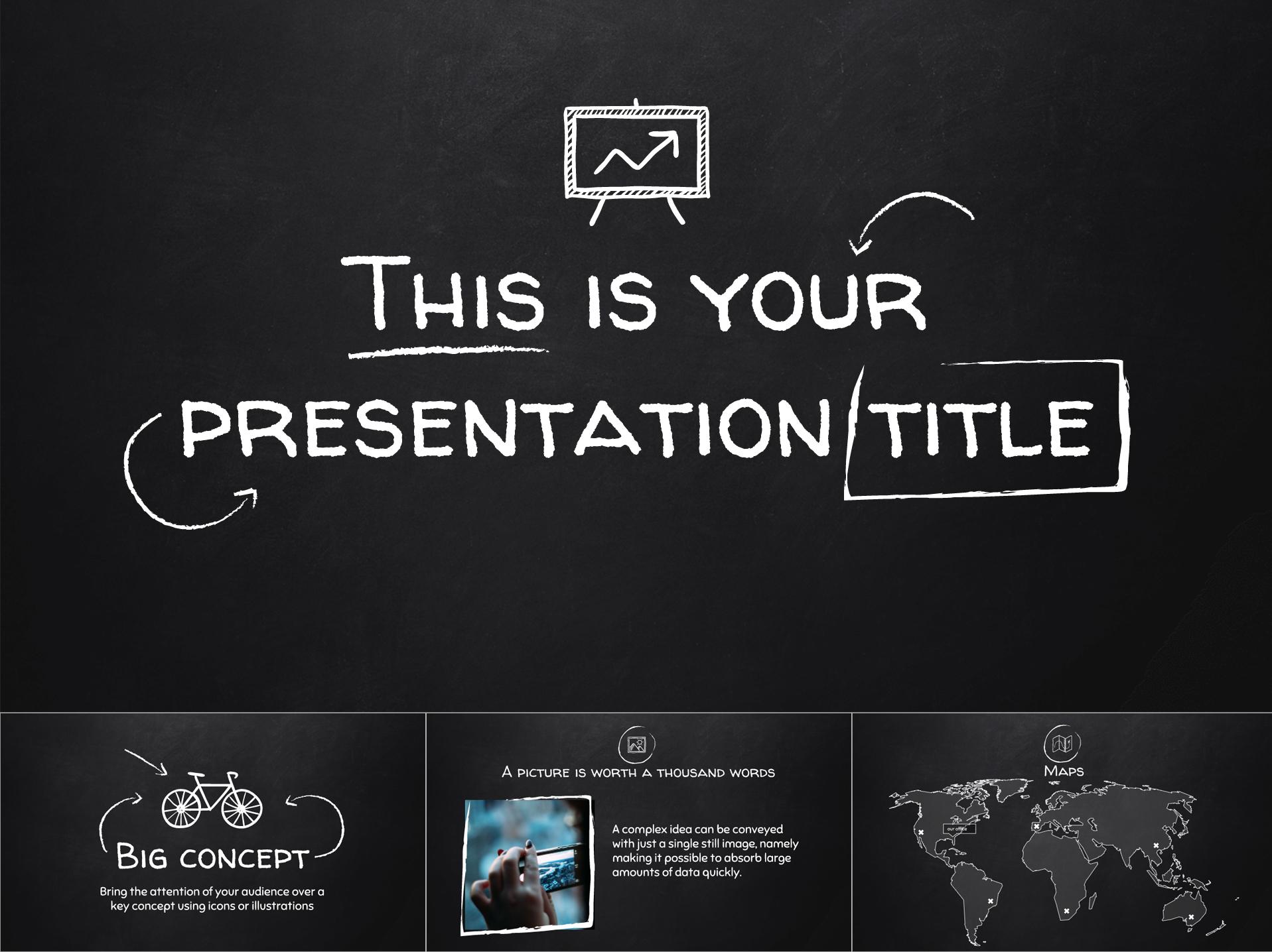Old School Blackboard Free Template for Google Slides - The Internet Tips