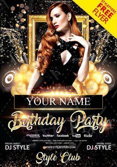 70 Free Psd Party Flyer Templates To Attract More People Graphicmama Blog