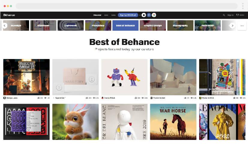 1 Web design inspiration Behance