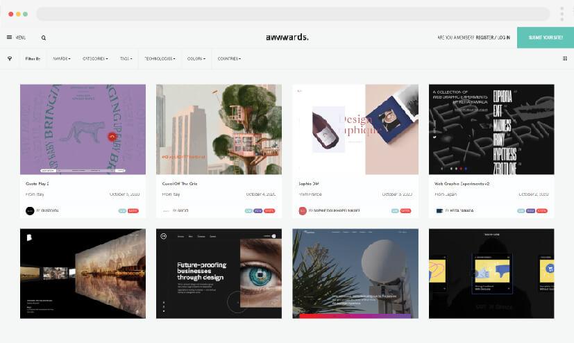 5 Web design inspiration Awwwards