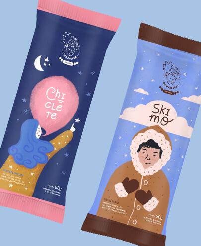 Ice cream package design trend