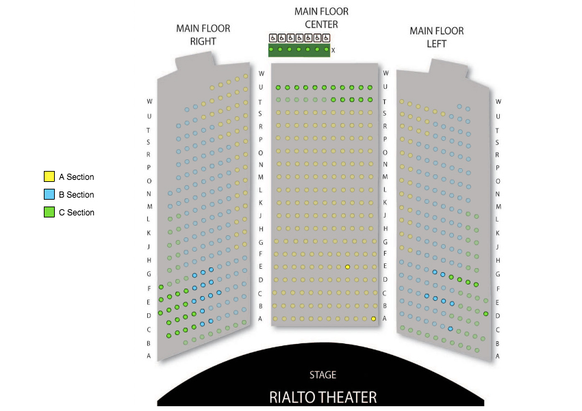 Rialto Theater Tucson Seating Chart Wallseatco