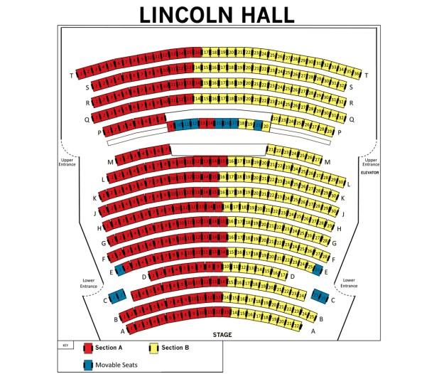 Keller Auditorium Seat Map