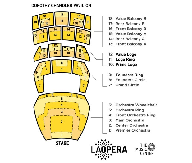 Ahmanson Theater Seating Chart Ahmanson Theatre Seating