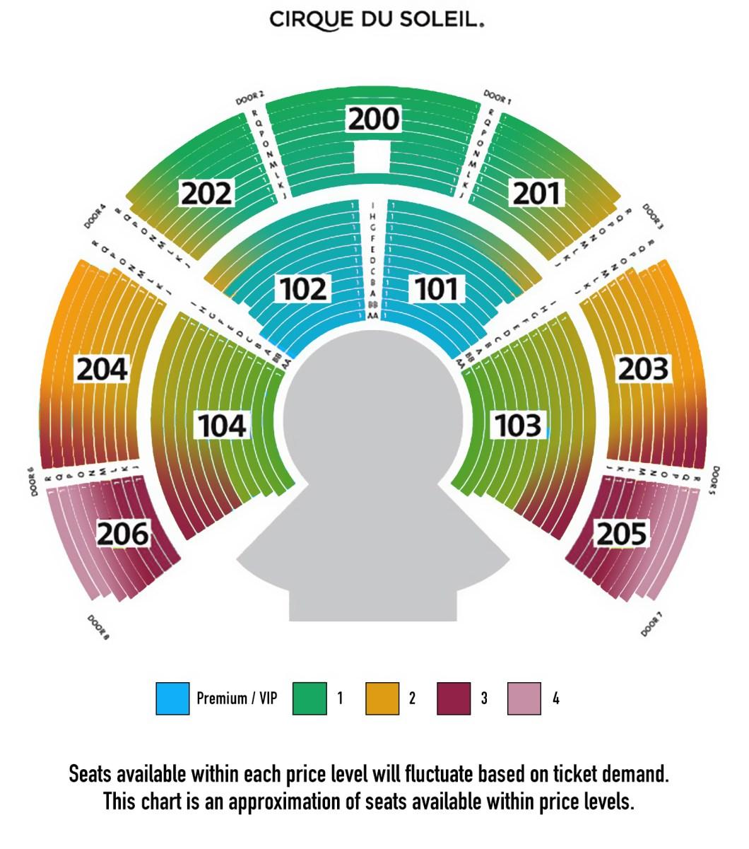Bellagio O Seating Chart View Wallseatco