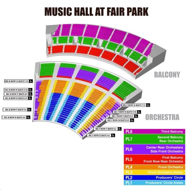 Dallas Summer Musicals Seating Chart Brokeasshome Com