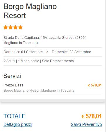 Offerta Last Minute Magliano in Toscana