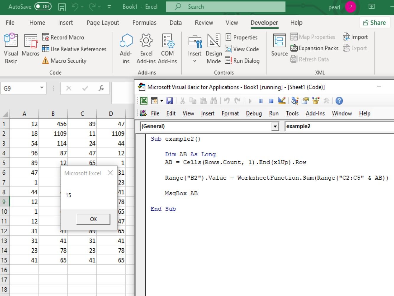 Using Vba Excel To Get The Last Row