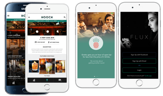 Hooch acquires Flux app, Grotto app